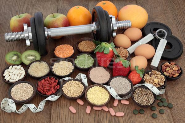 Dieet gezondheid voedsel opleiding Stockfoto © marilyna