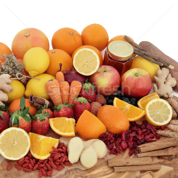 Stock photo: Antioxidant Cold Remedy Food
