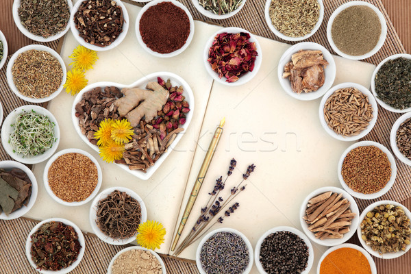 Female Herbal Medicine Stock photo © marilyna