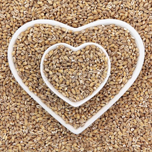 Pearl ячмень зерна продовольствие сердце Сток-фото © marilyna