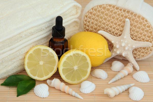 Limon terapi banyo aromaterapi meyve Stok fotoğraf © marilyna