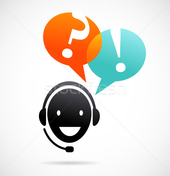 customer support with headphones Stock photo © marish