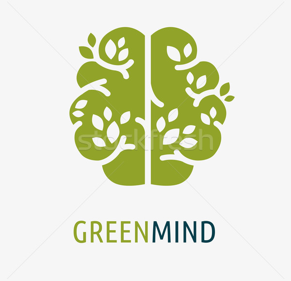 Cerebro creación idea icono elemento árbol Foto stock © marish