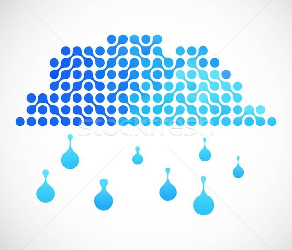 Internet wolk vector afbeelding druppels Stockfoto © marish
