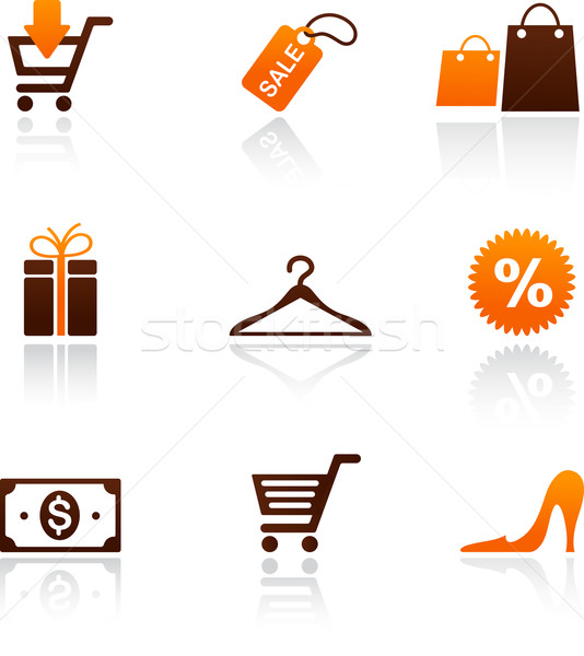 collection of shopping icons Stock photo © marish