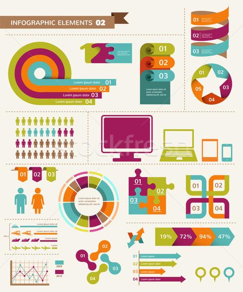 Stock fotó: Elemek · ikonok · infografika · grafikus · információ · klasszikus