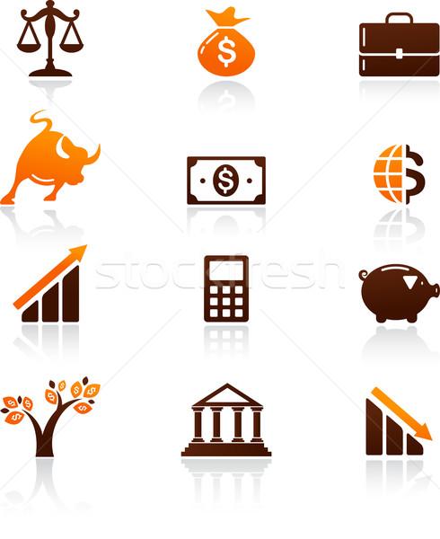Foto d'archivio: Raccolta · soldi · finanziare · icone · business · albero