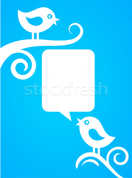 backgound with blue birds Stock photo © marish