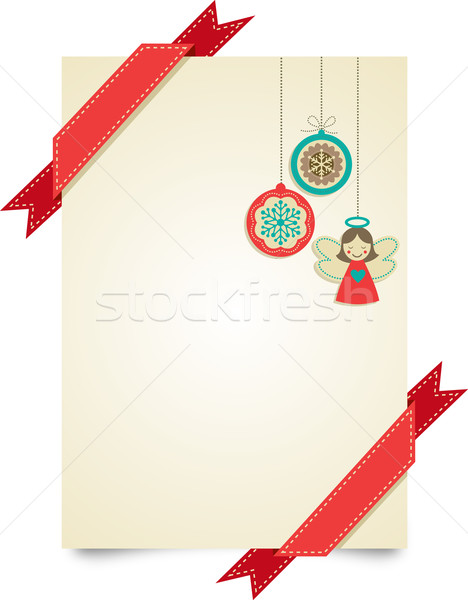 Christmas vintage wenskaart ornamenten abstract Stockfoto © marish