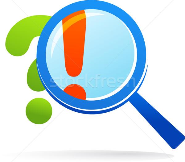 Lupa cuestión responder resumen signo web Foto stock © marish