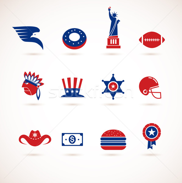 Stock photo: USA - collection of vector icons