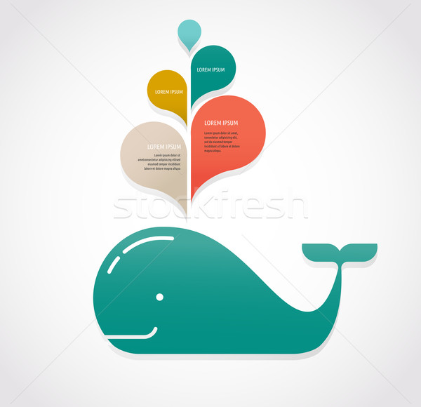 whale icon with speech bubbles Stock photo © marish