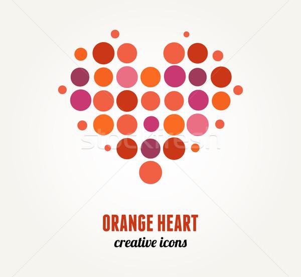 Vector red heart Stock photo © marish