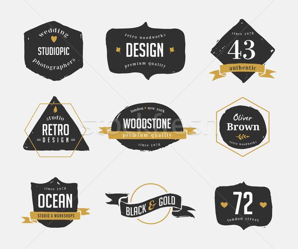 Randevú vintage ruházati címkék
