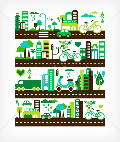 Stock photo: green city - environment and ecology