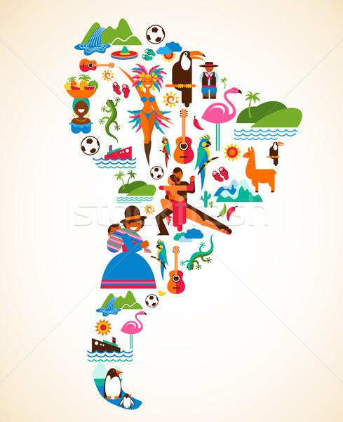 Güney amerika sevmek örnek vektör simgeler kadın Stok fotoğraf © marish