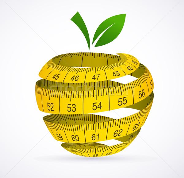 Apple and measuring tape, Diet symbol Stock photo © marish