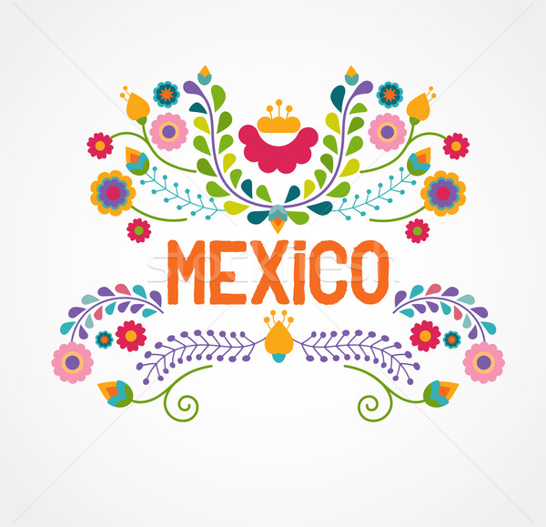 Mexico flowers, pattern and elements Stock photo © marish