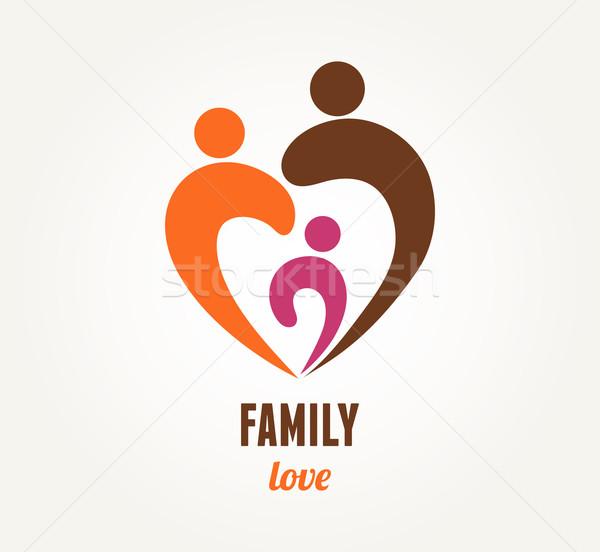 Family love - heart icon and symbol Stock photo © marish