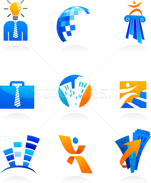 collection of business and consulting icons Stock photo © marish
