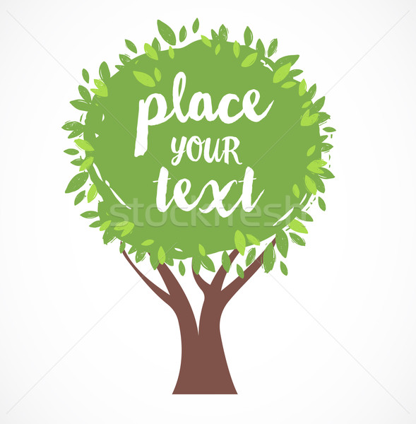 vector tree illustration, background with a place for text  Stock photo © marish