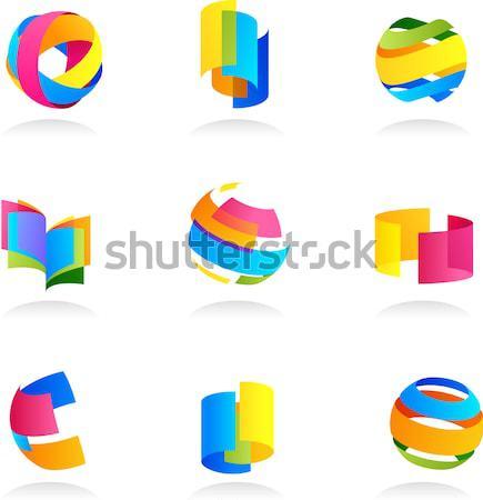 Collectie abstract kleurrijk iconen computer ontwerp Stockfoto © marish