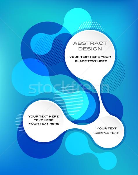 blue abstract template Stock photo © marish