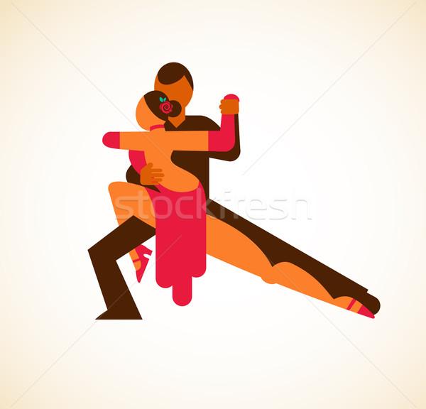 Tango bailarín hombre Pareja negro caliente Foto stock © marish