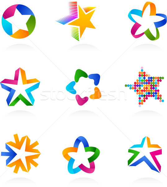 collection of star icons, vector Stock photo © marish