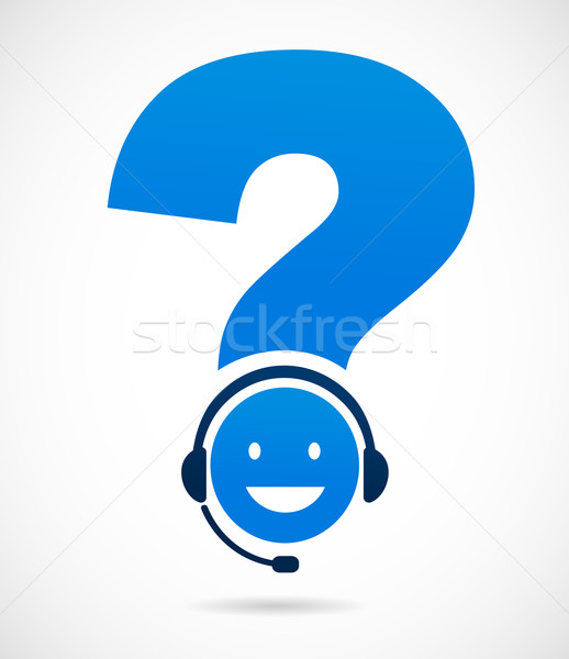 customer support with question mark Stock photo © marish