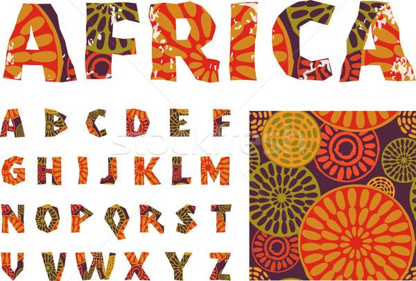 Africa - alphabet and pattern Stock photo © marish