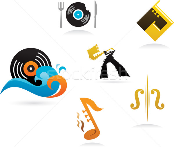 collection of music icons and elements Stock photo © marish