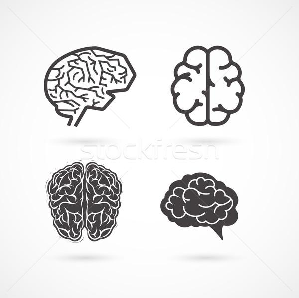 мозг набор вектора иконки Сток-фото © marish