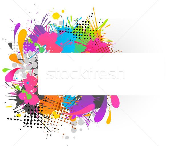 ファンキー コピースペース 白 テクスチャ デザイン フレーム ストックフォト © marish