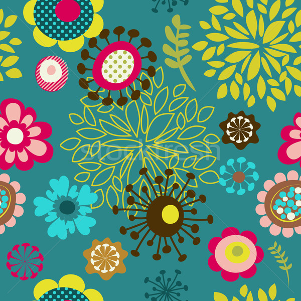 seamless flower pattern background Stock photo © marish