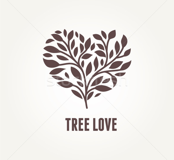 Tree heart - vector icon Stock photo © marish