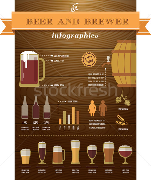 Beer infographics and elements Stock photo © marish