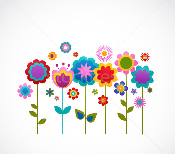 greeting card with flowers Stock photo © marish
