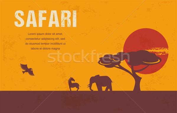 Foto d'archivio: Africa · infografica · modello · illustrazioni · donna · albero
