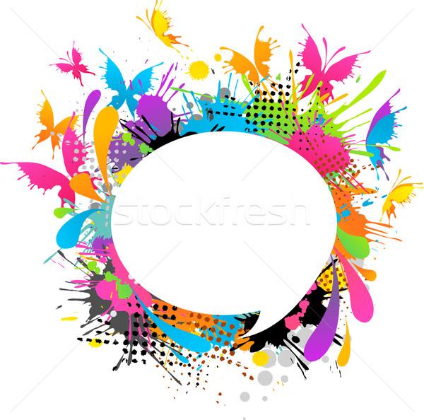 Foto stock: Moderna · mariposas · textura · luz · diseno