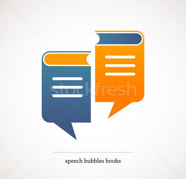 book talks - vector concept design with speech bubbles Stock photo © marish