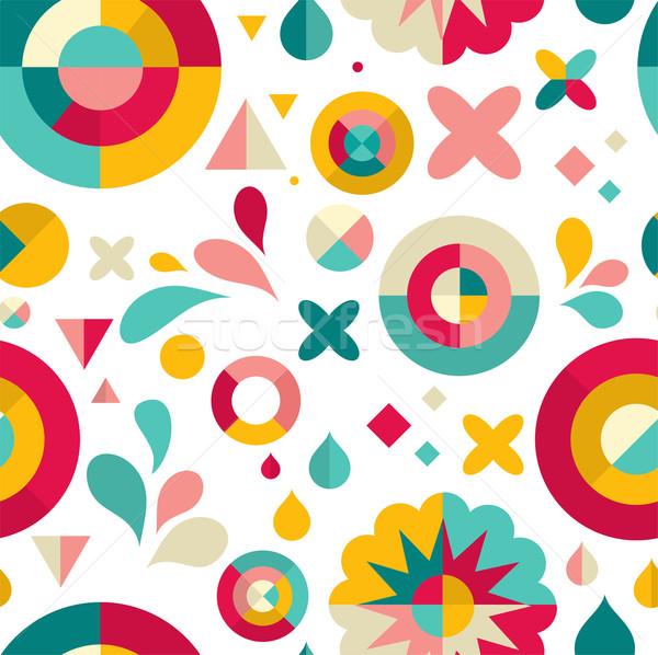 Disegno geometrico moderno carta party felice abstract Foto d'archivio © marish
