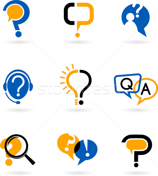 set of question mark icons Stock photo © marish
