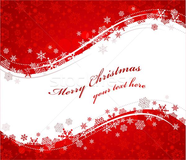 Stock fotó: Karácsony · piros · hópelyhek · minta · vektor · nő