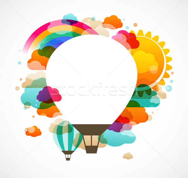 hot air balloon, colorful abstract vector background Stock photo © marish
