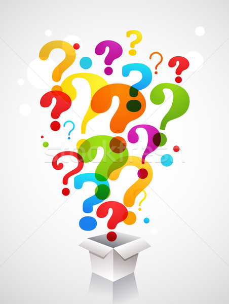 box with question mark icons Stock photo © marish