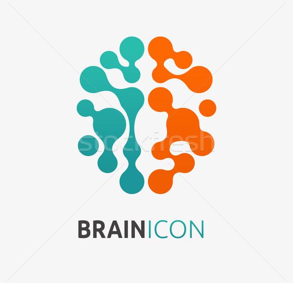Cervello creazione idea icona elemento design Foto d'archivio © marish