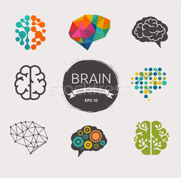 Toplama beyin oluşturma fikir simgeler elemanları Stok fotoğraf © marish