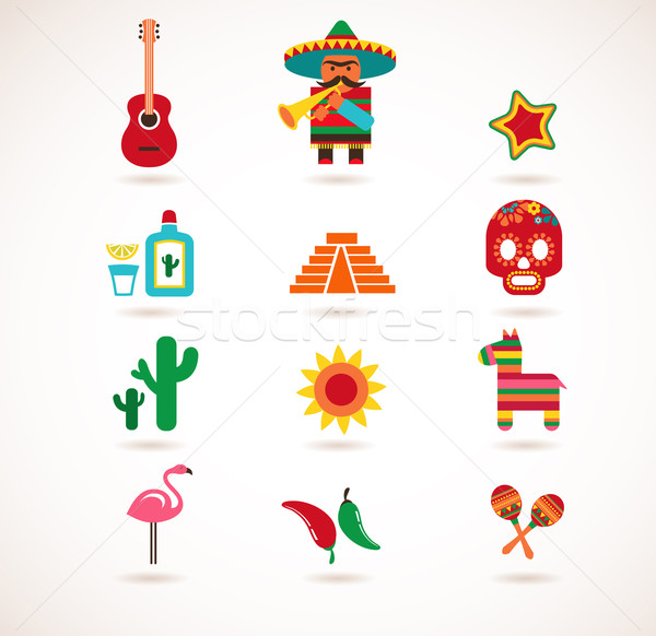 Stockfoto: Mexico · liefde · ingesteld · vector · illustraties