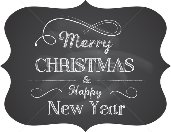 Chalkboard Christmas background with elegant text Stock photo © marish